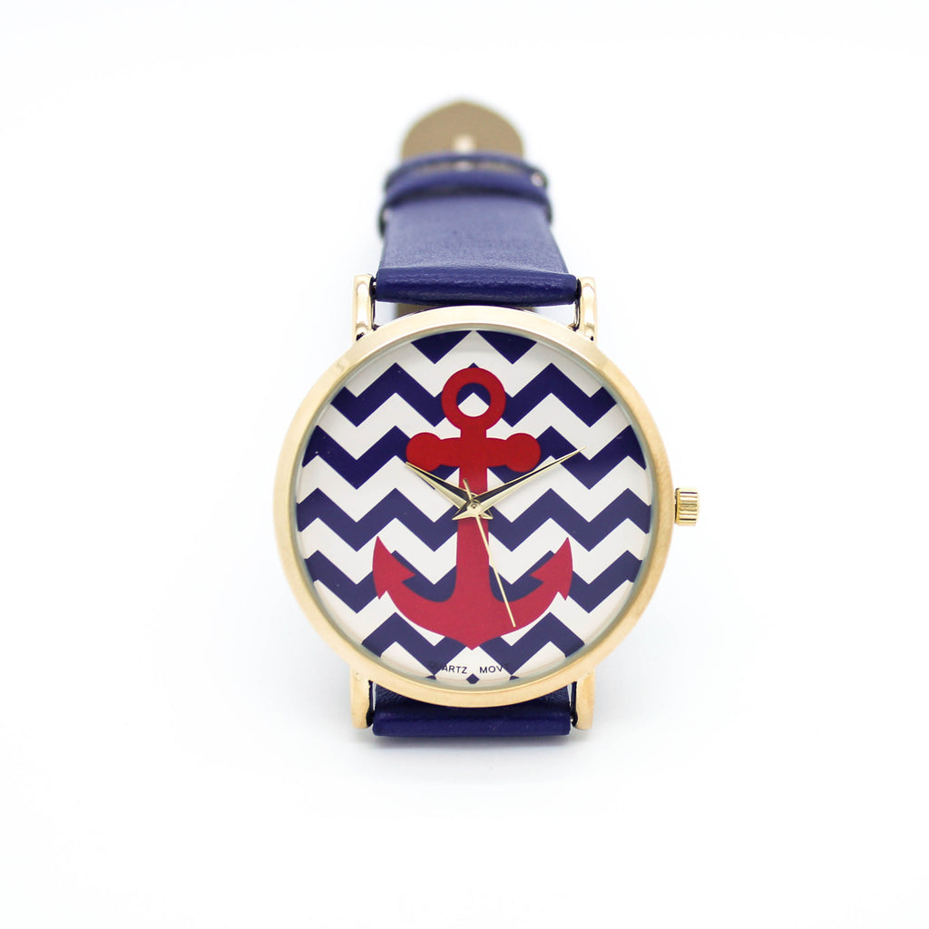 Anchor chevron watch (3 colors)