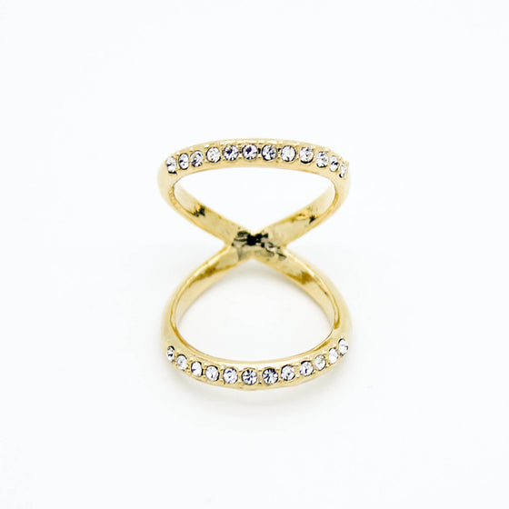 Double wire knuckle, midi ring