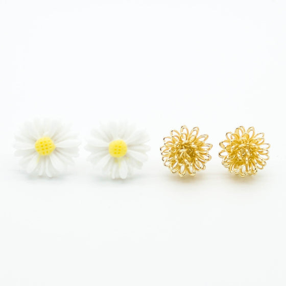 Daisy earrings set