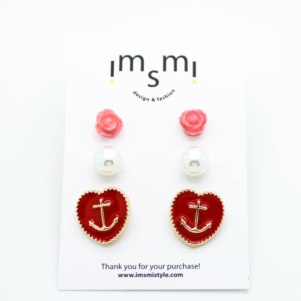 Anchor earrings set