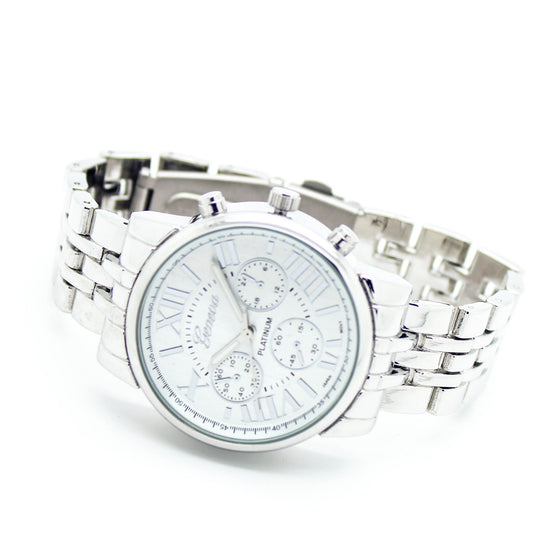 Chrono metal watch (3 colors)