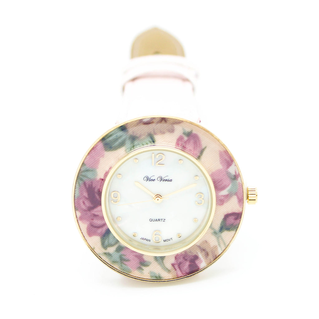 Flower ring strap watch (2 colors)