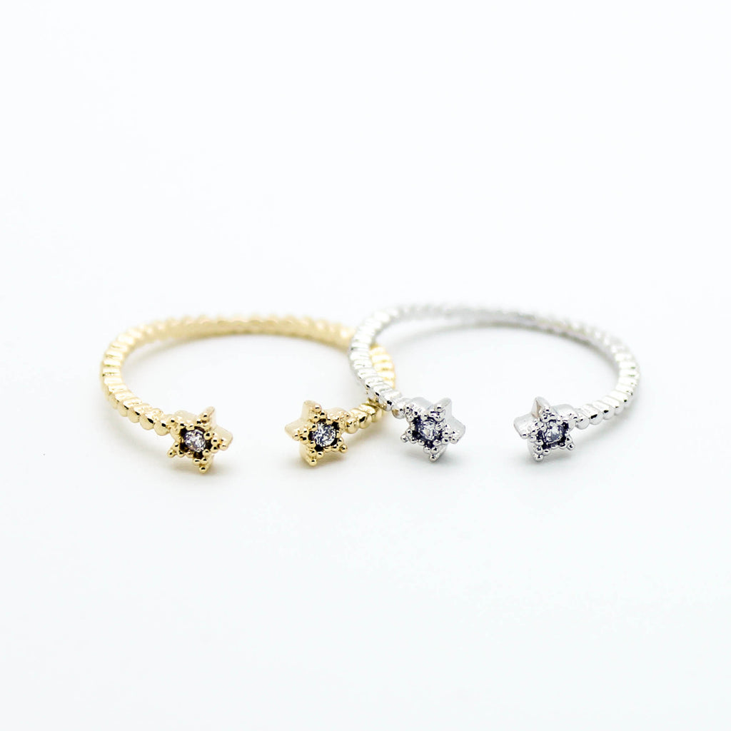 Star knuckle, midi ring