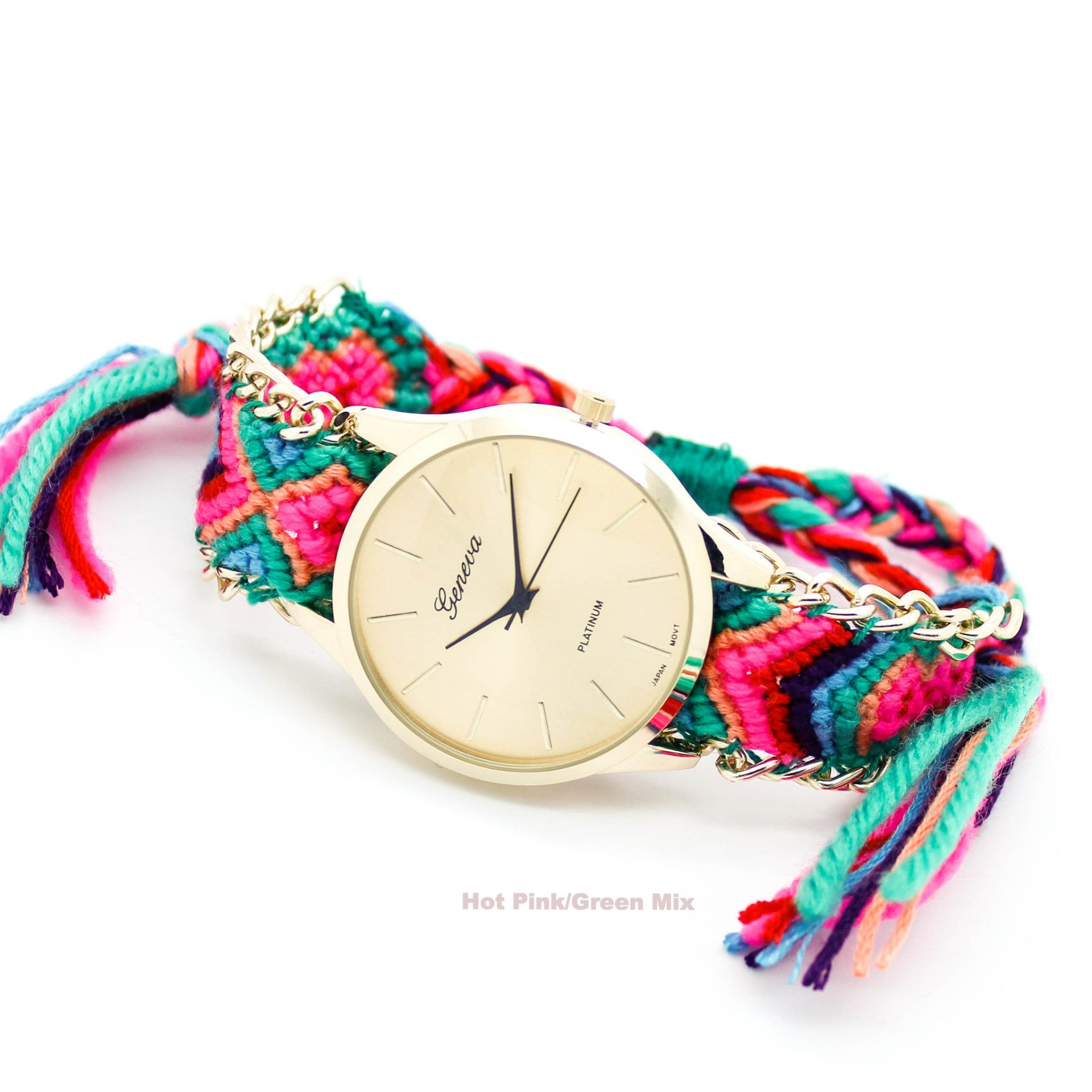 friendship bracelet watch 3 colors imsmistyle. Black Bedroom Furniture Sets. Home Design Ideas