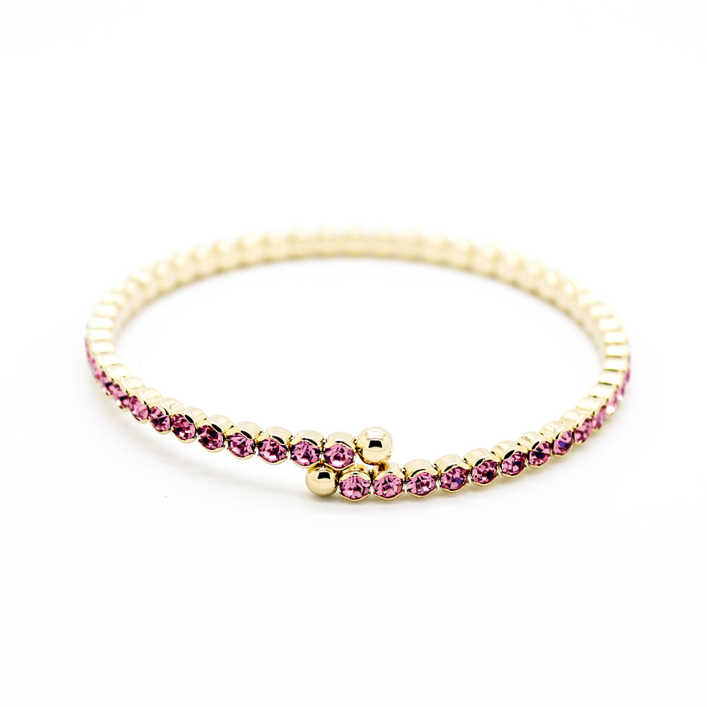 Cubic Zirconia bangle bracelet (5 colors)