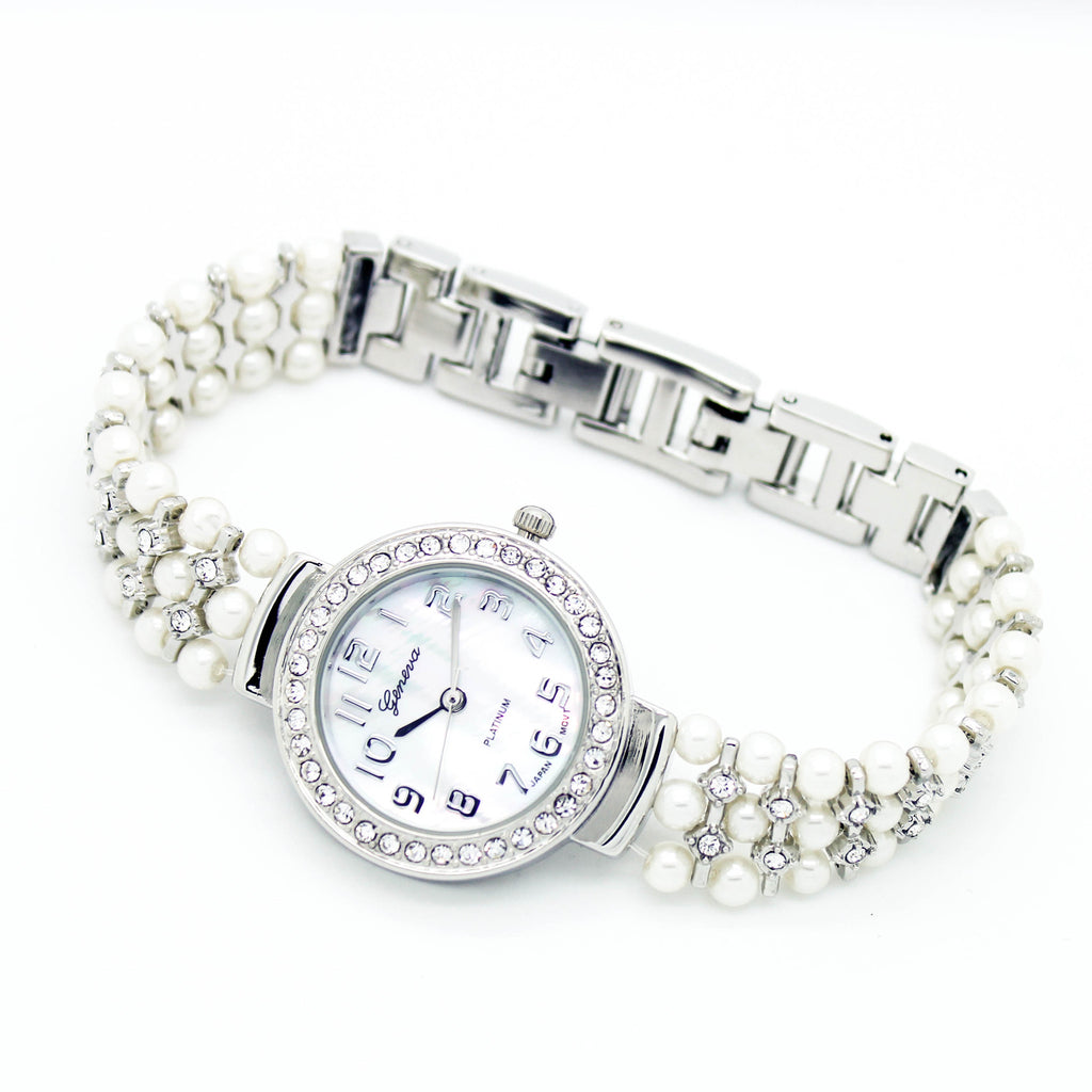 Pearl chain watch (2 colors)