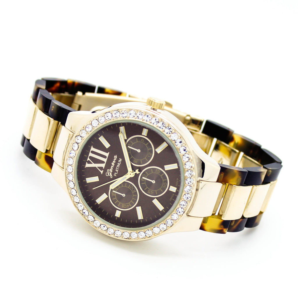 Tortoise metal watch (2 colors)