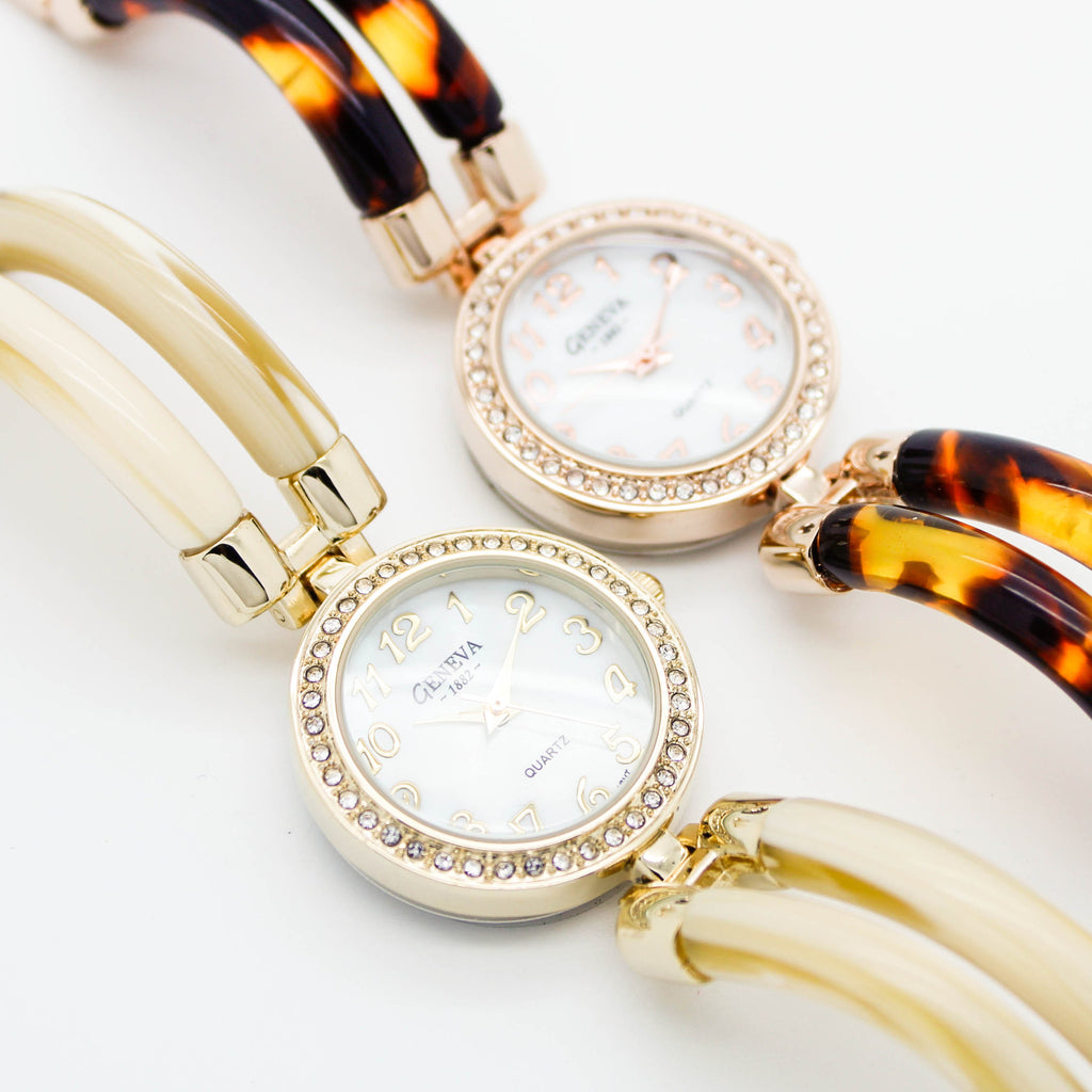 Tortoise bangle watch (2 colors)