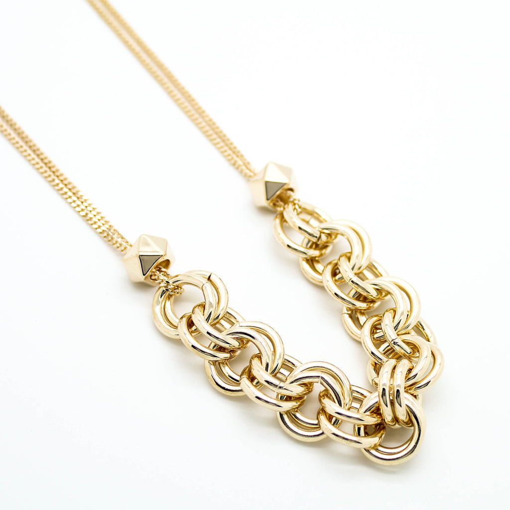 Bold half chain necklace