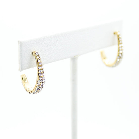 Curvy line earrings