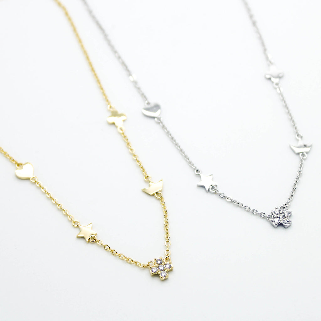 Cross charms anklet