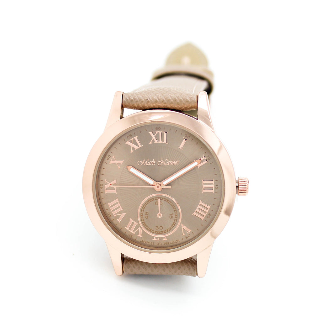 Safiano strap watch (3 colors)