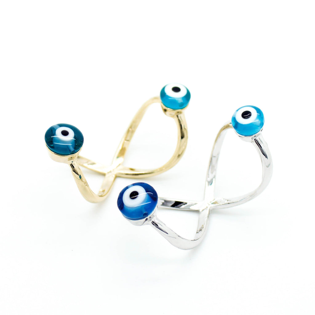 Eye double wire ring