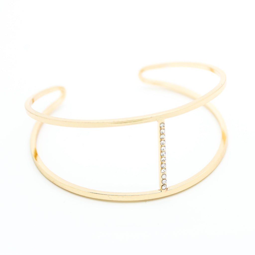 Double bar bangle bracelet