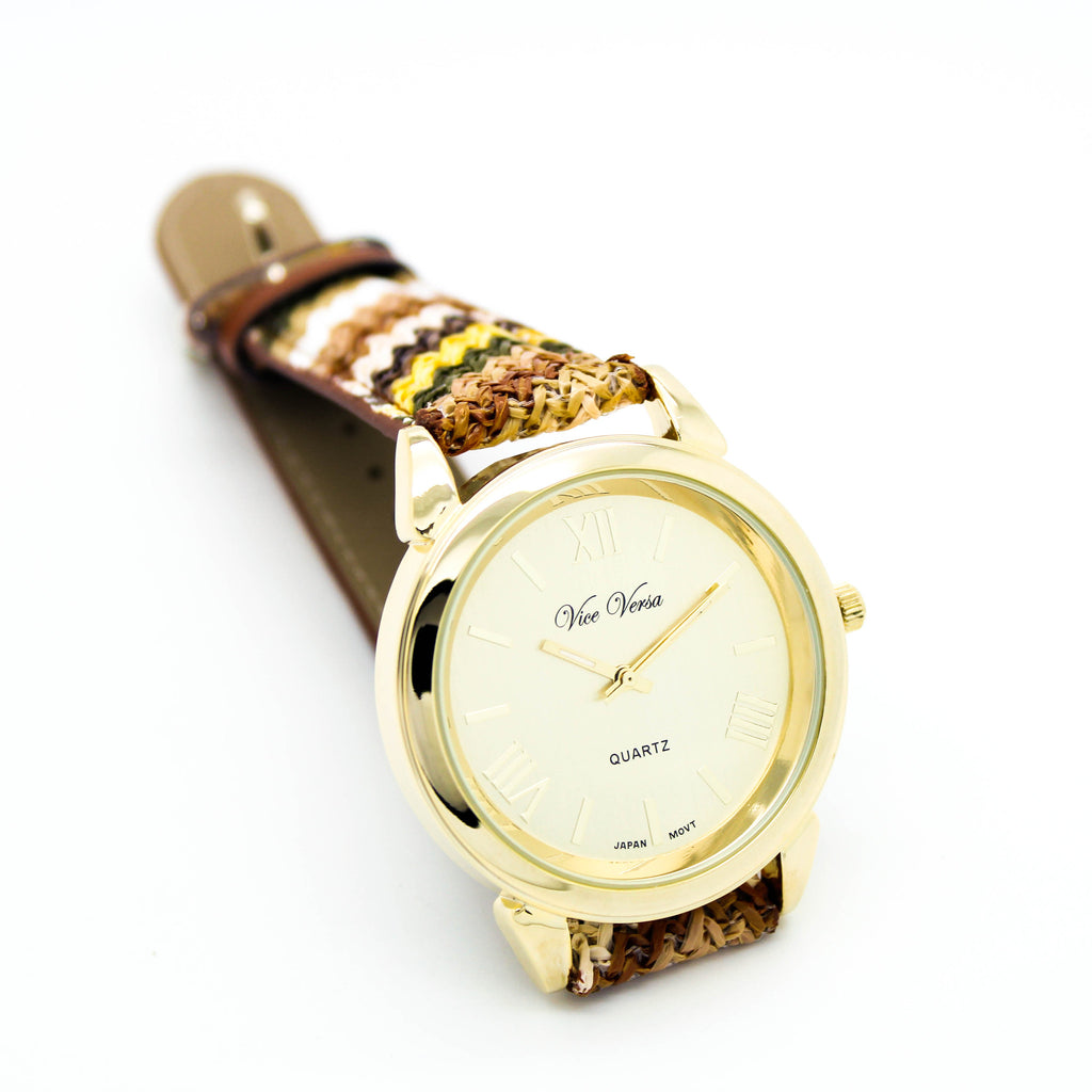 Zig Zag strap watch (3 colors)