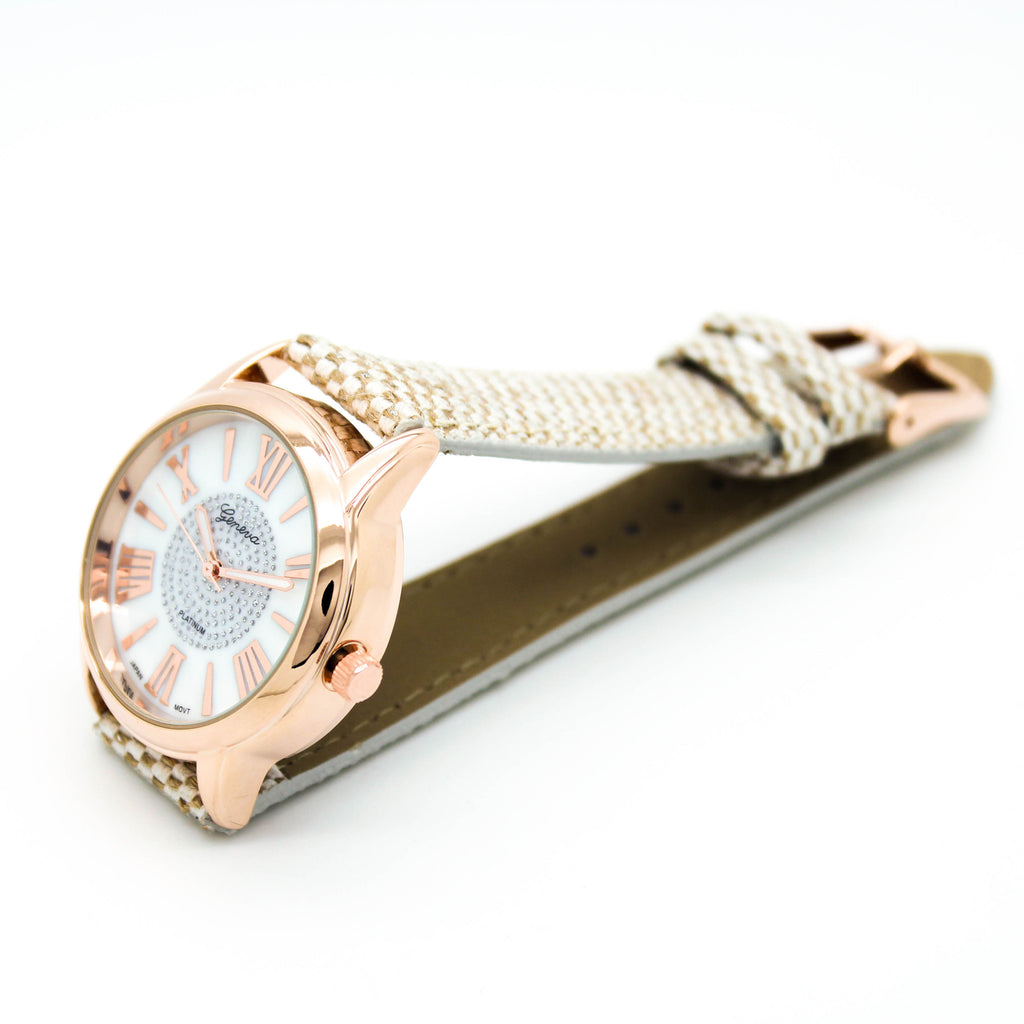 Roman woven strap watch (2 colors)