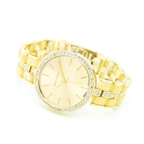 Bezel classic metal watch (3 colors)