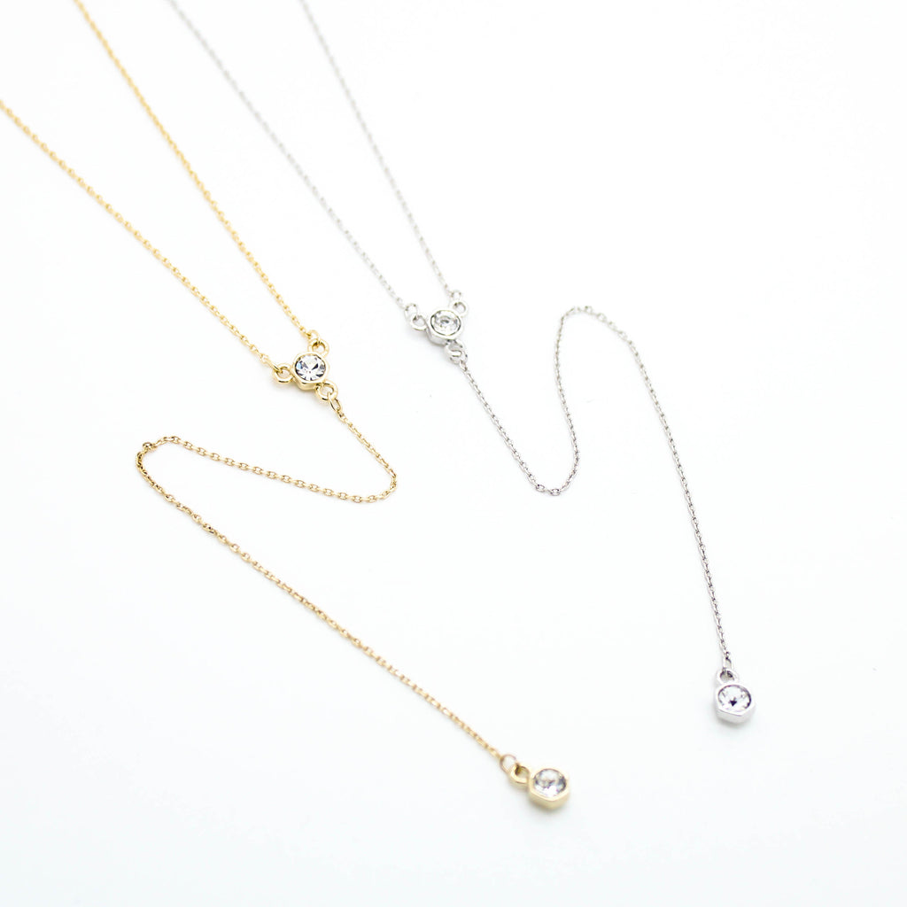 Round Y drop necklace