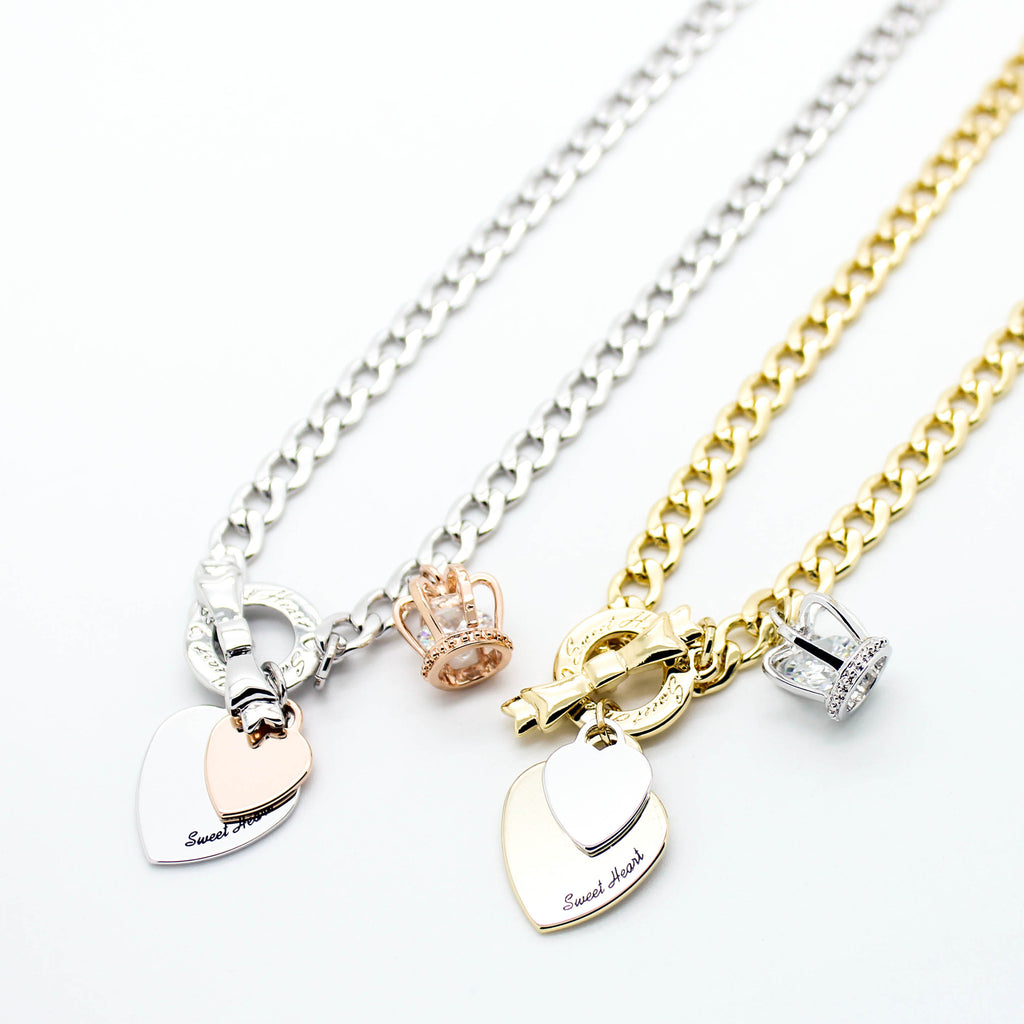 Sweet Heart chain necklace