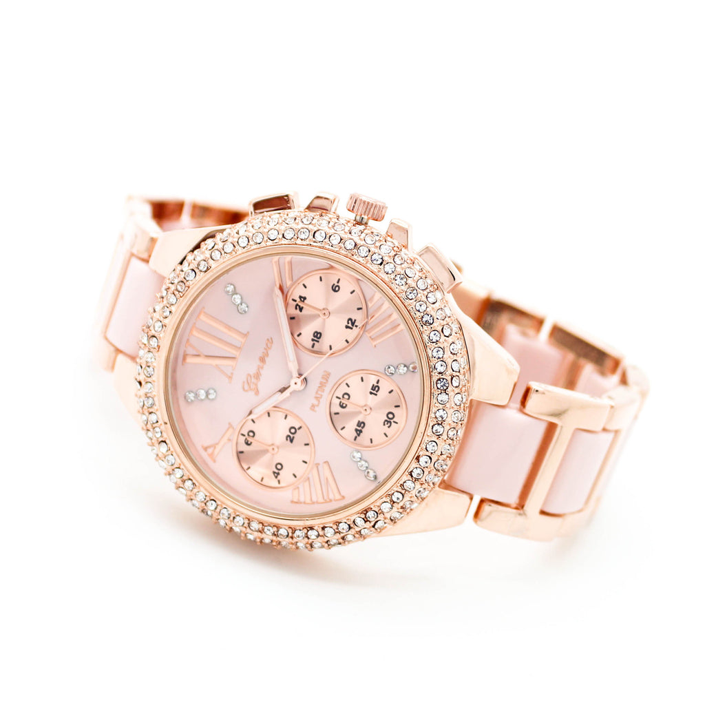 Glam bezel watch (3 colors)