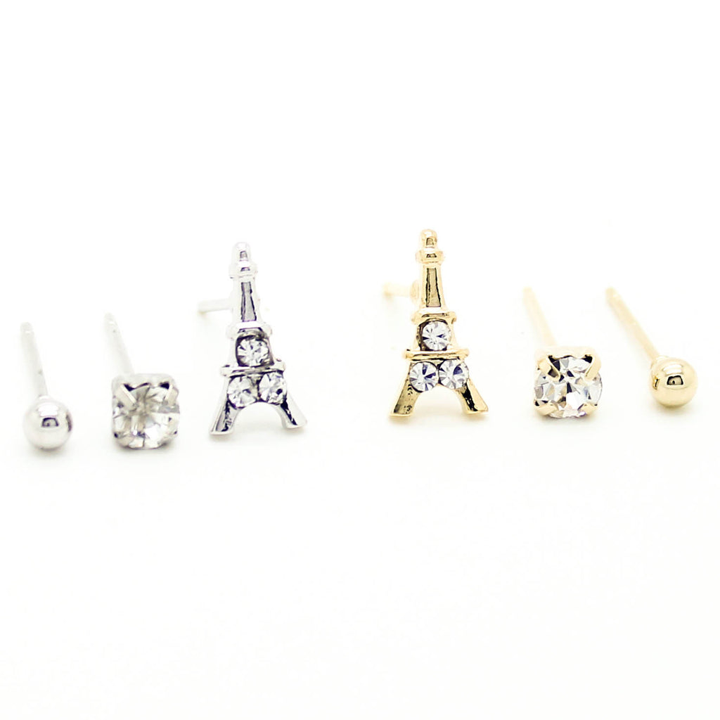 Eiffel Tower earrings set