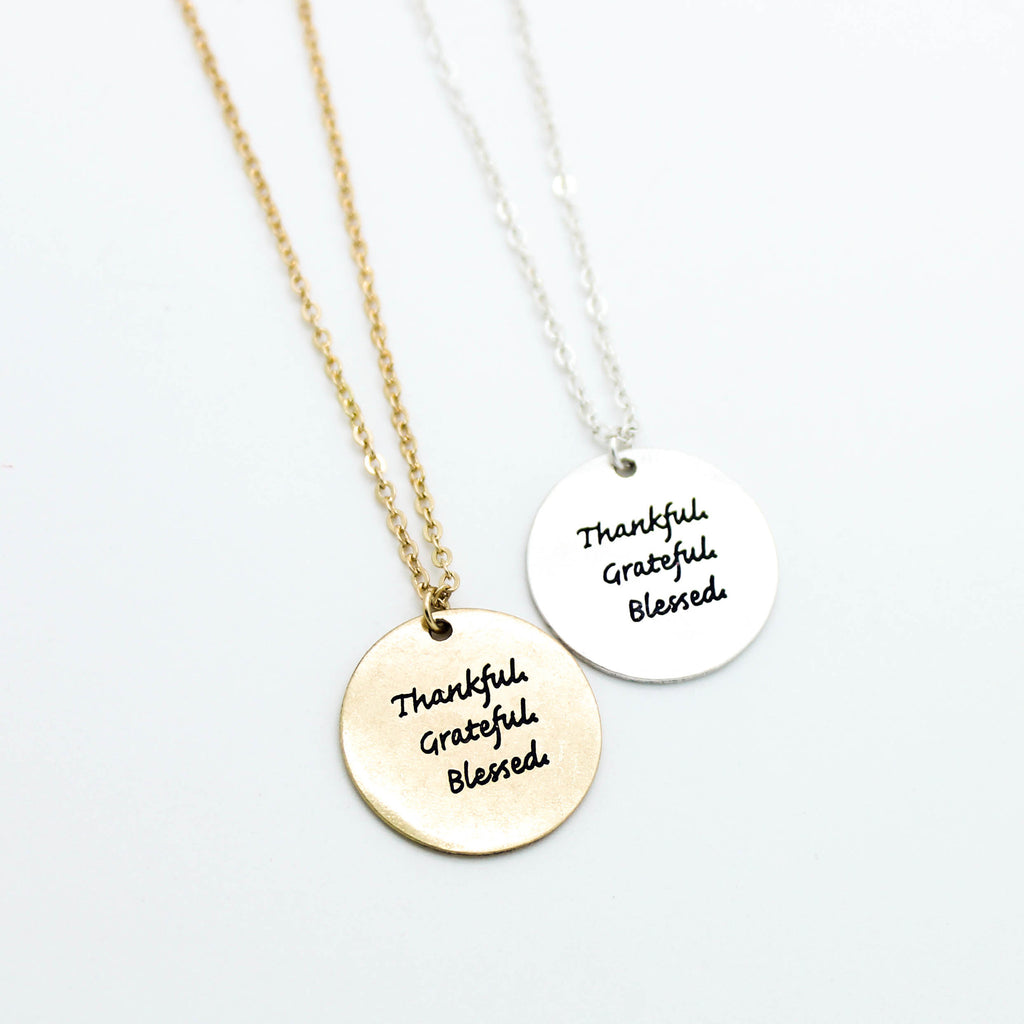 Thankful, Greatful, Blessed necklace