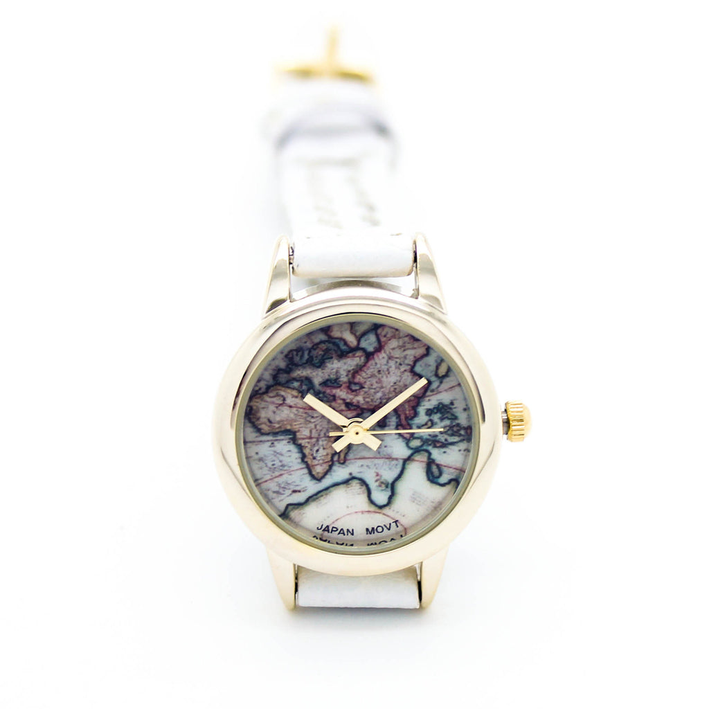 World map mini watch (4 colors)