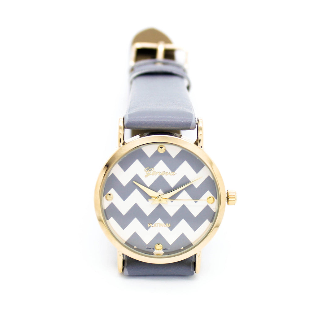 Chevron strap watch (2 colors)