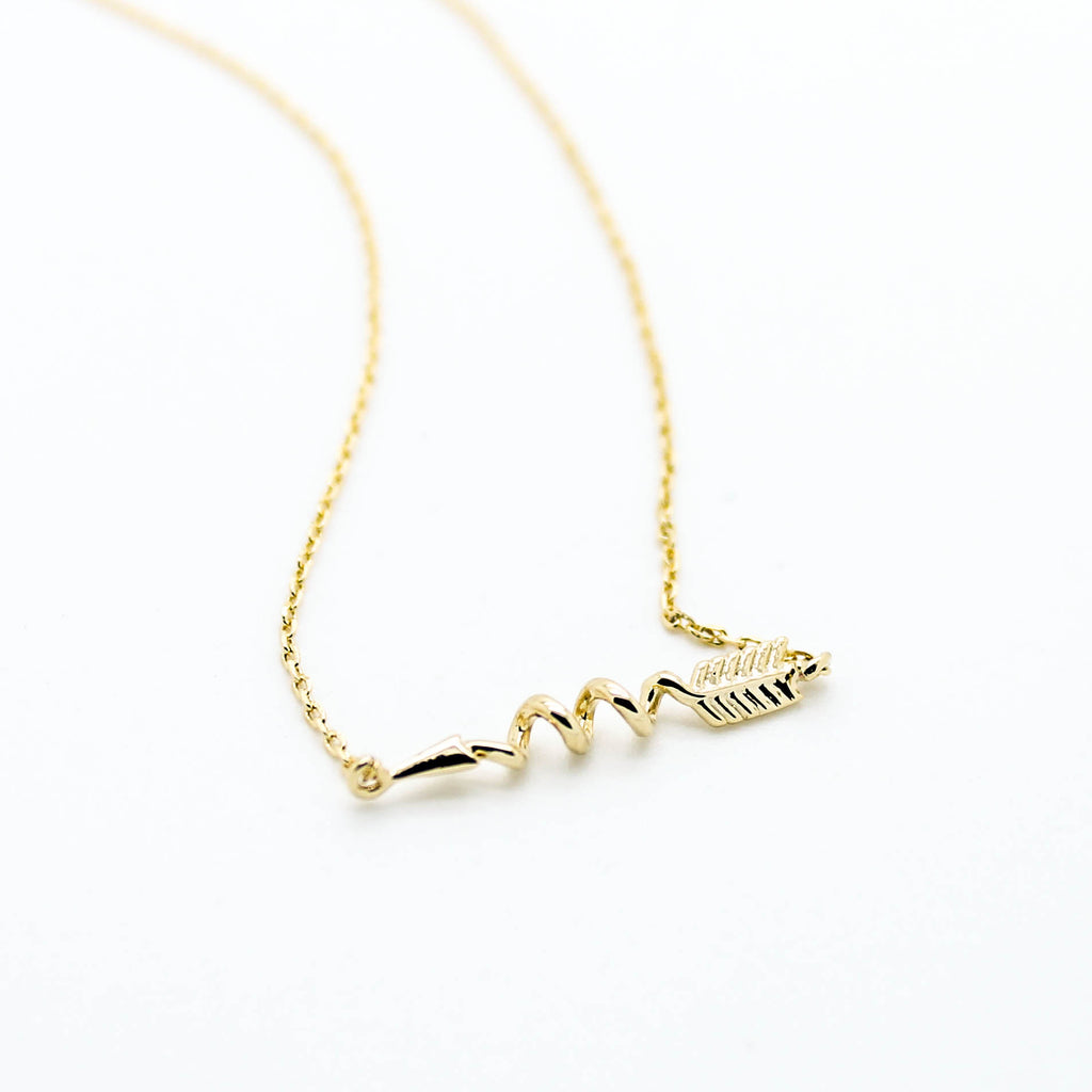 Arrow spiral necklace