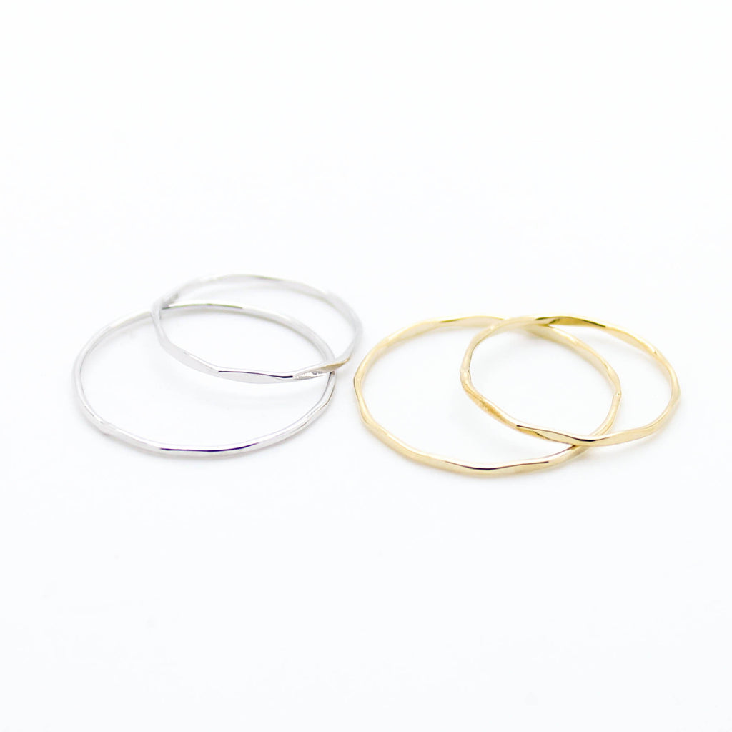 Thin stack rings set