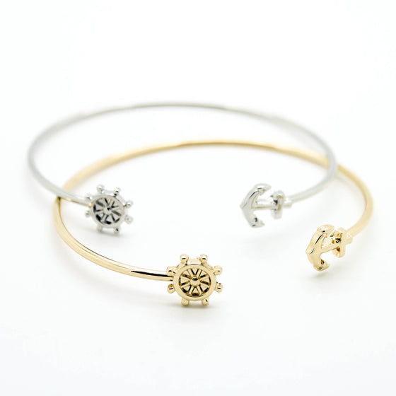 Anchor bangle bracelet