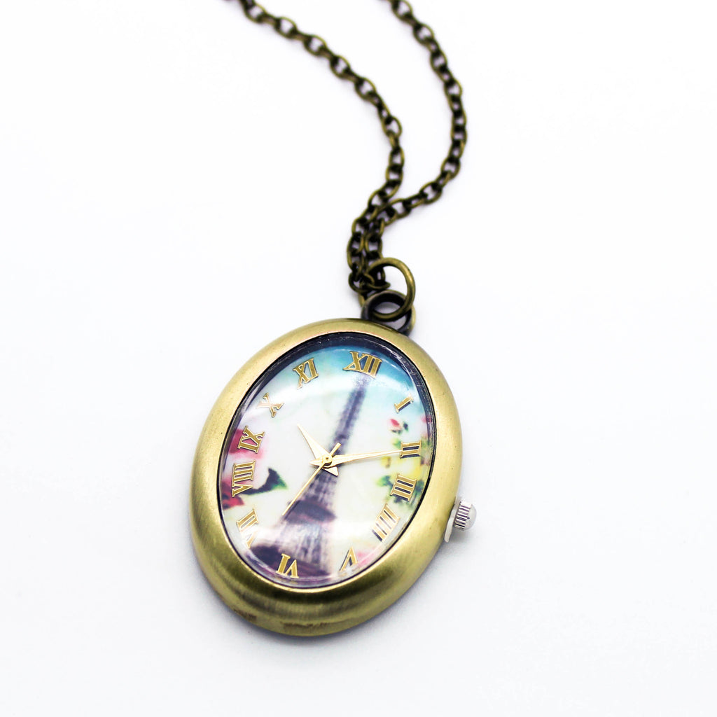 Paris necklace watch