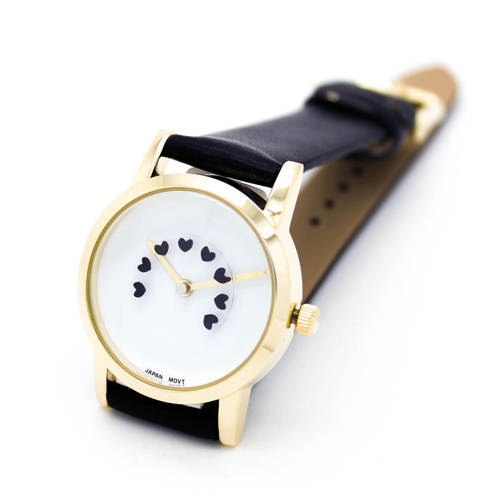Heart beat strap watch (4 colors)