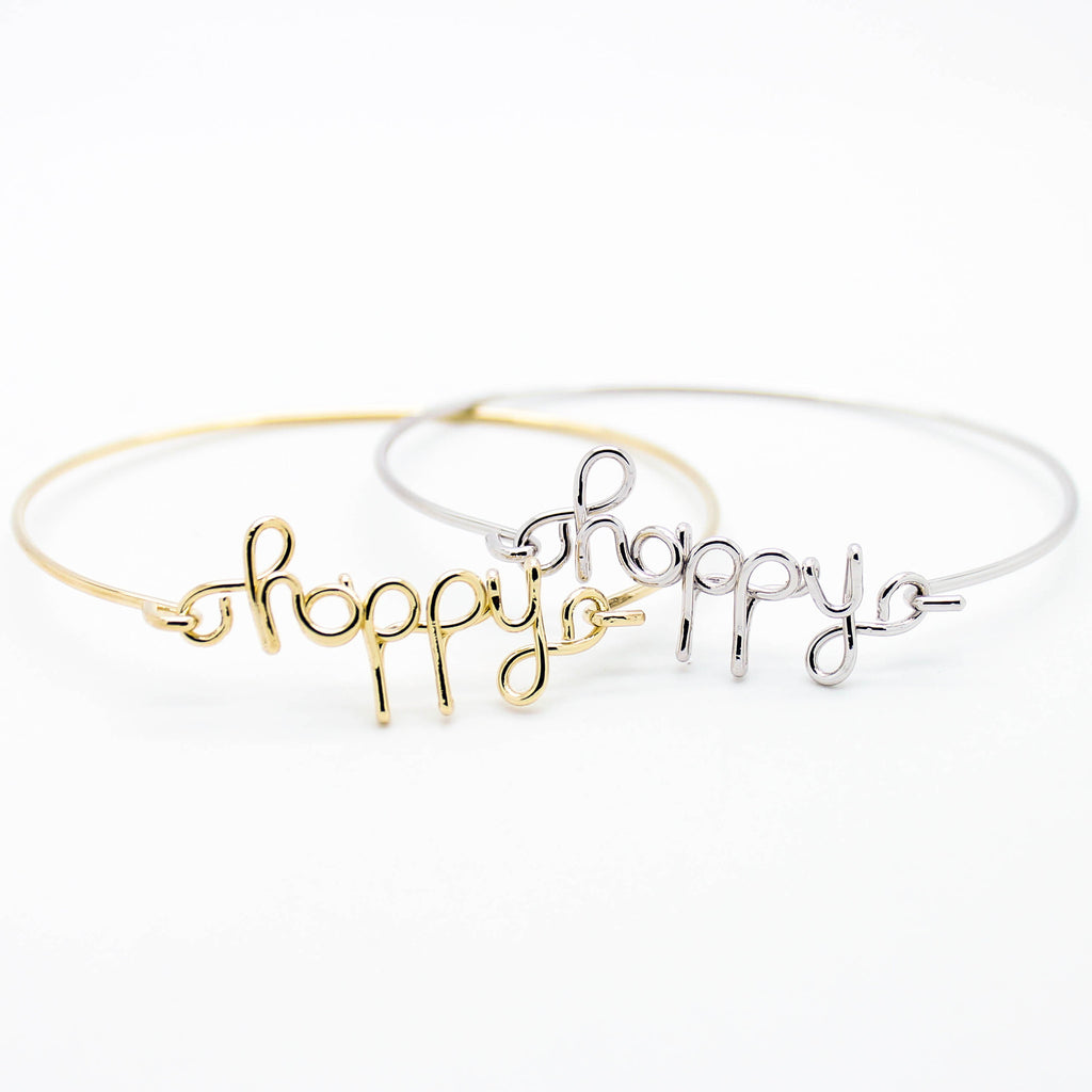 Happy hinge bracelet