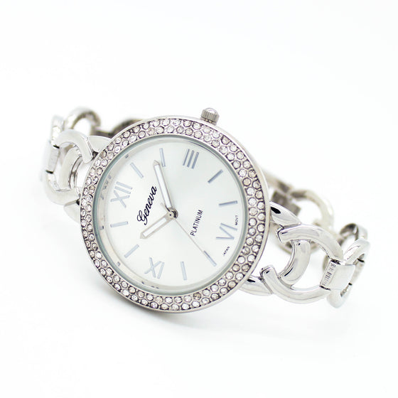 Bezel chain metal watch
