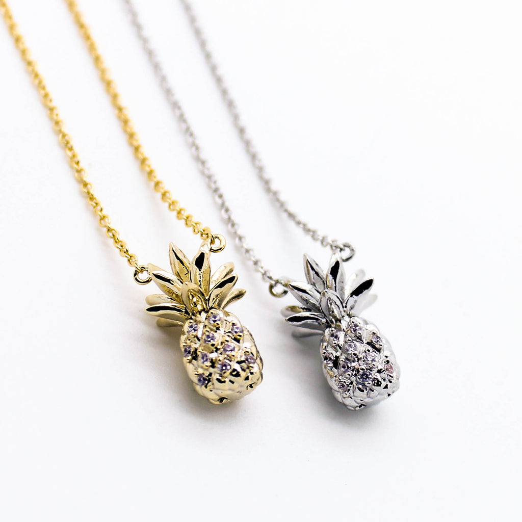 Pineapple stone necklace