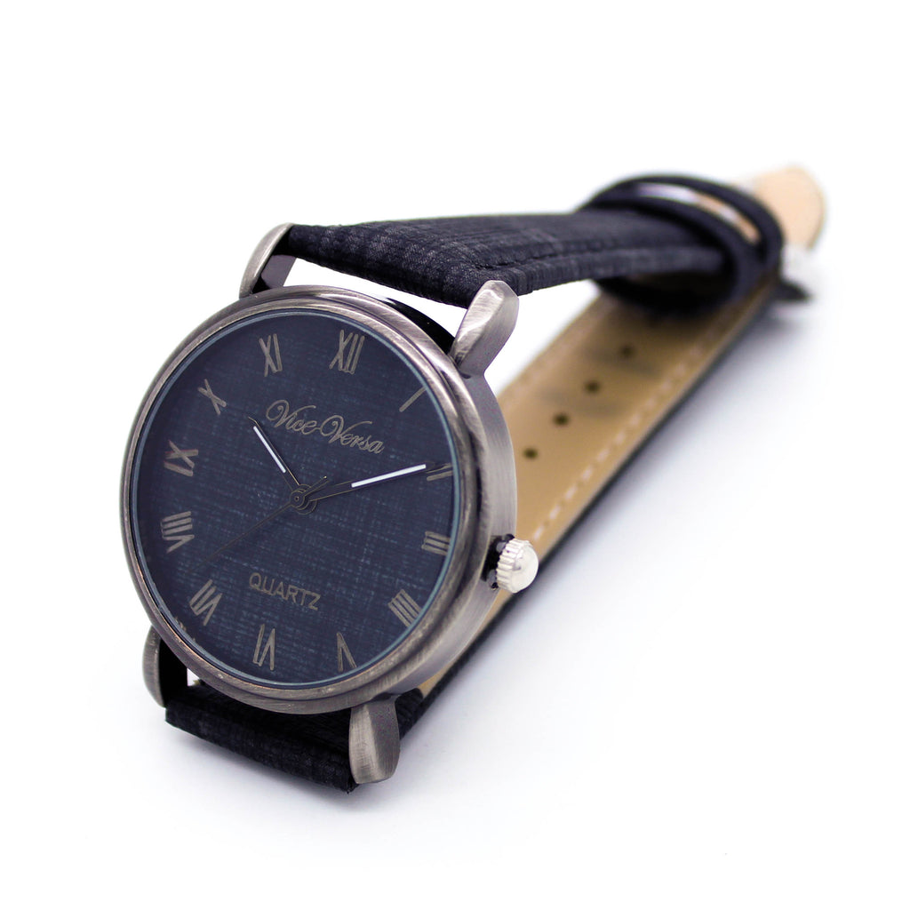 Denim strap watch (4 colors)