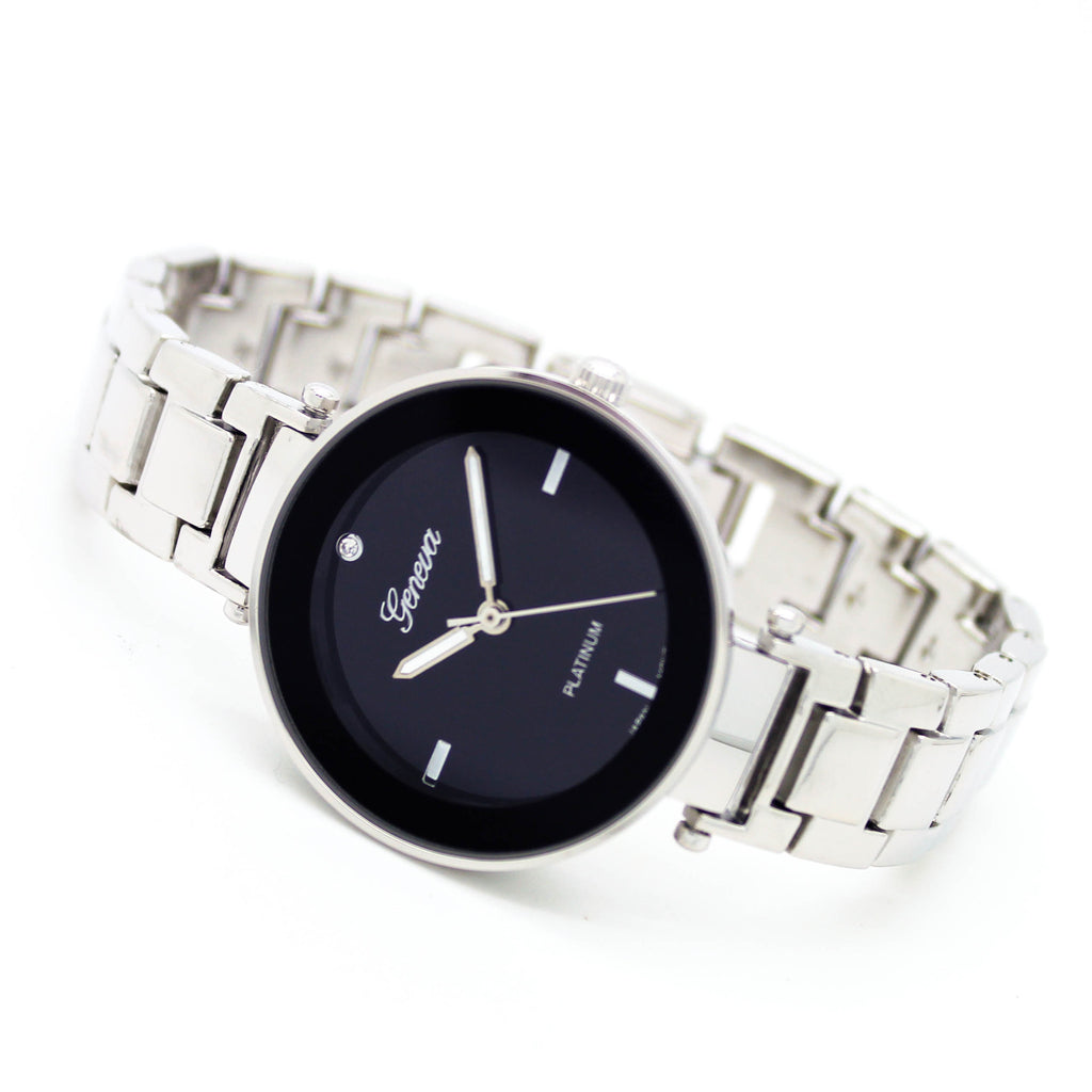 Round dial metal watch (2 colors)