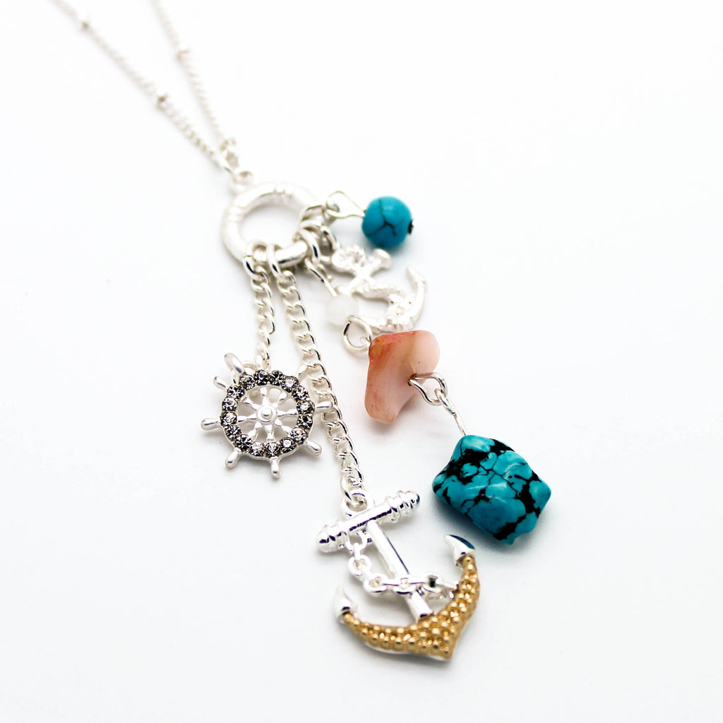 Anchor charms necklace set (2 colors)