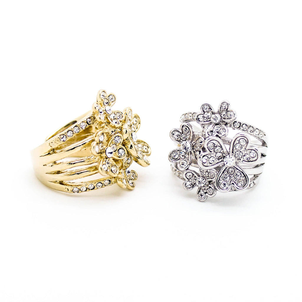 Flowers statement ring