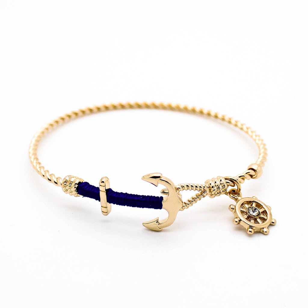 Anchor nautical charm bracelet