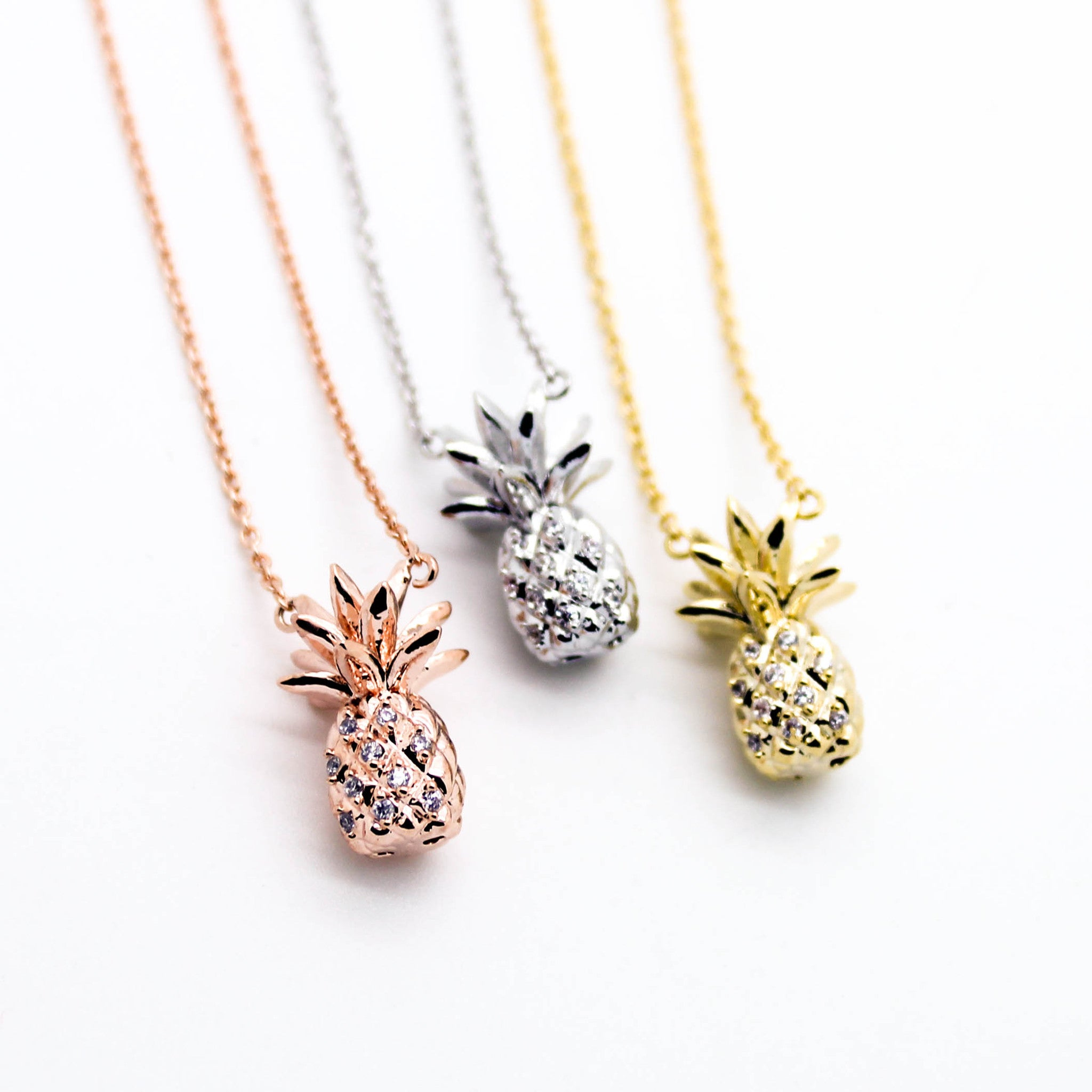 offset jewelry necklaces drift hawaii c gp pineapple necklace shop ocean