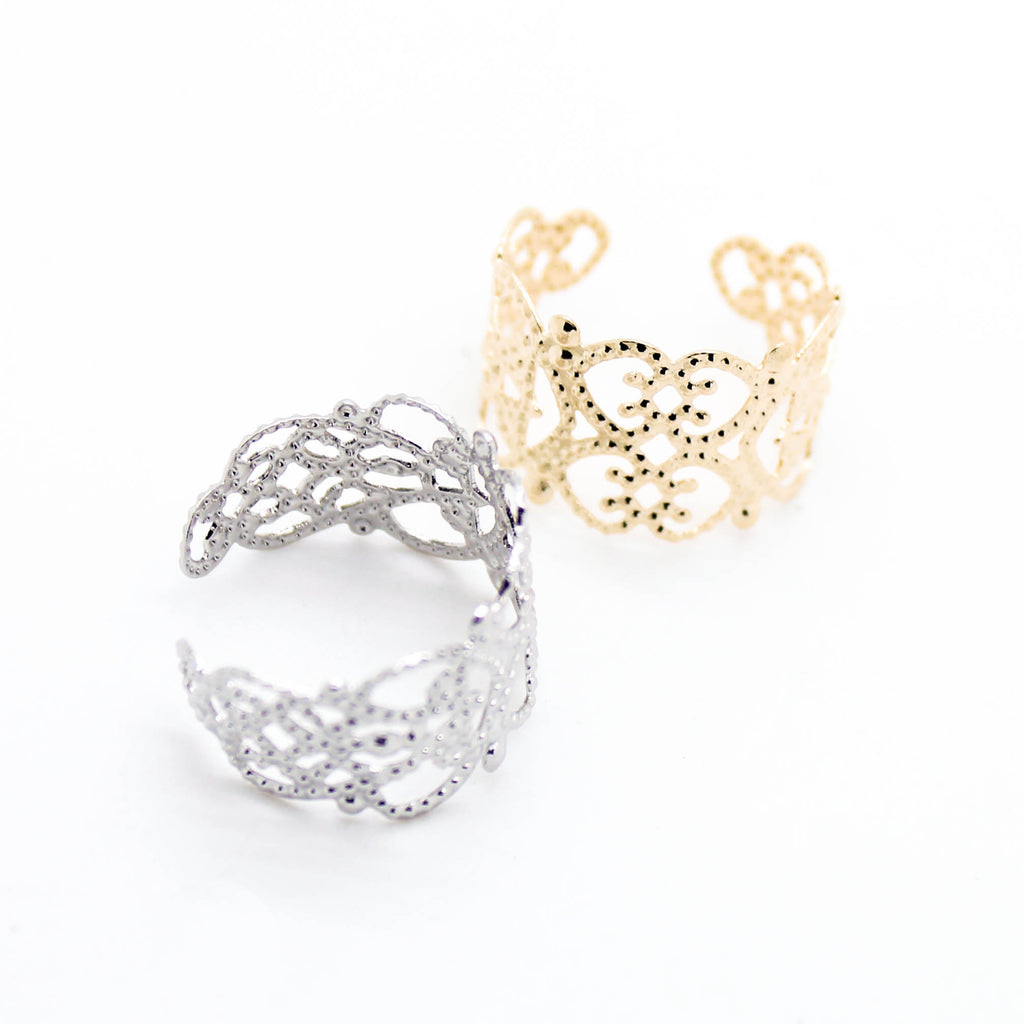 Filigree lace ring