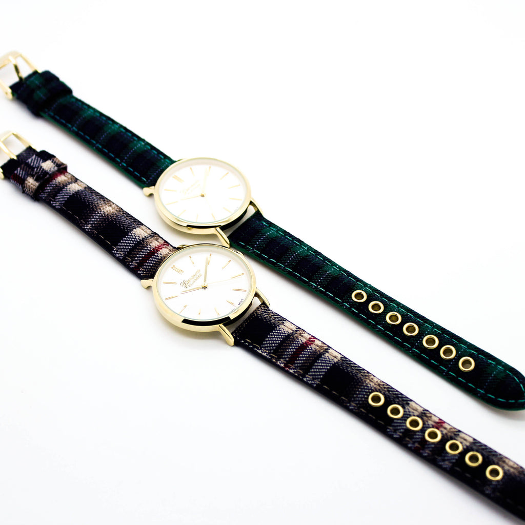 Plaid strap watch (2 colors)