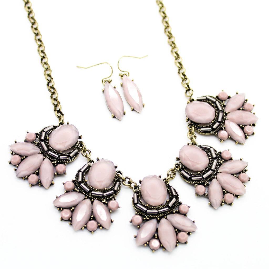 Sweet blush statement necklace