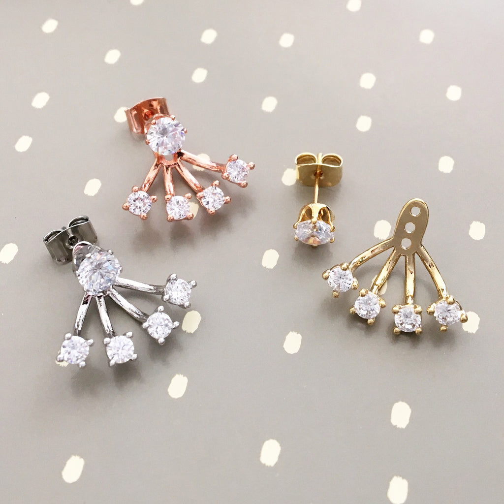 Cutie earrings jacket set