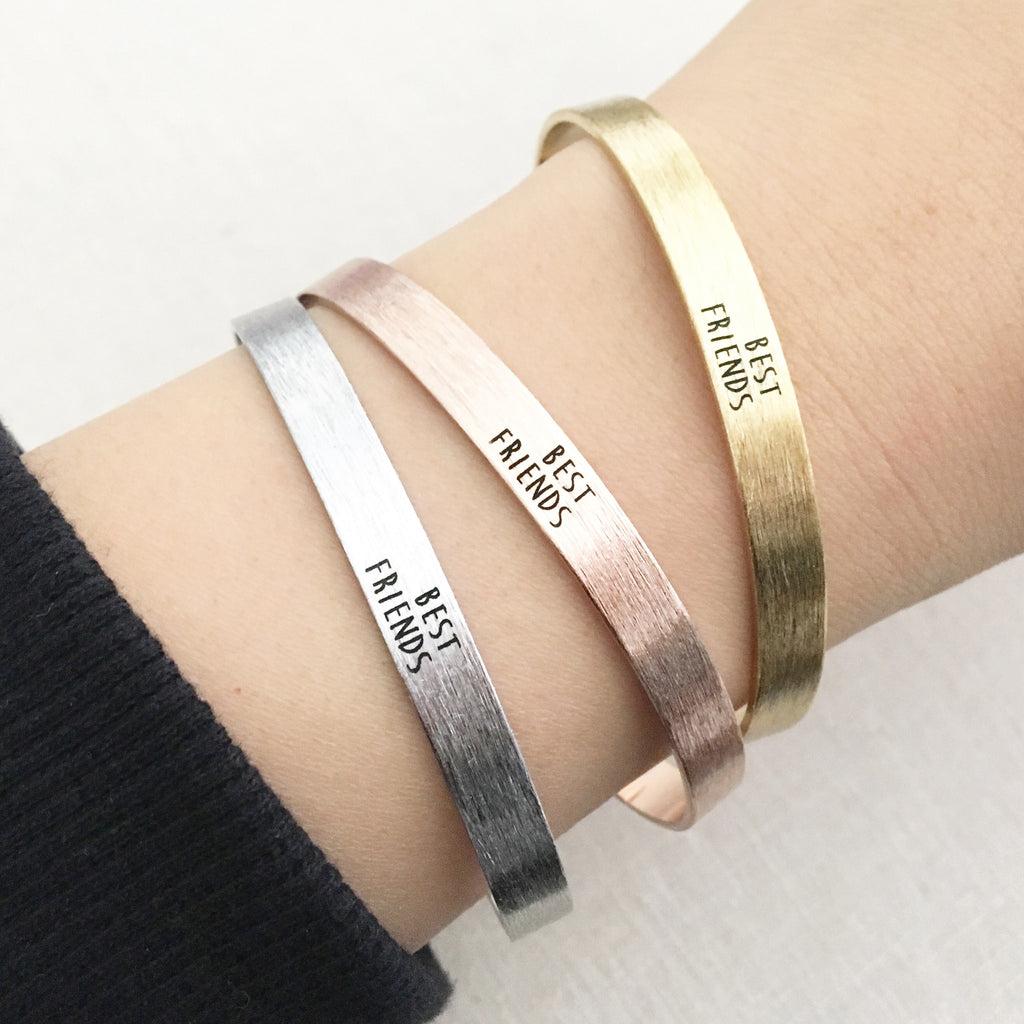 Best Friends bangle bracelet