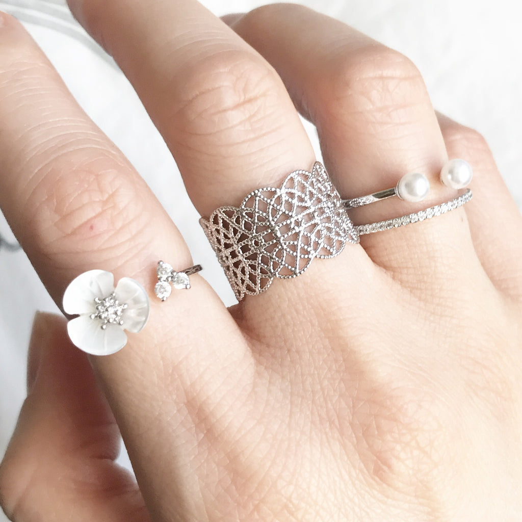 Lace open ring