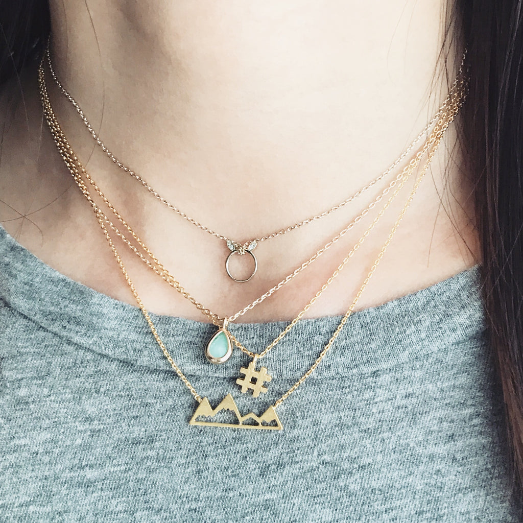 Hashtag # necklace