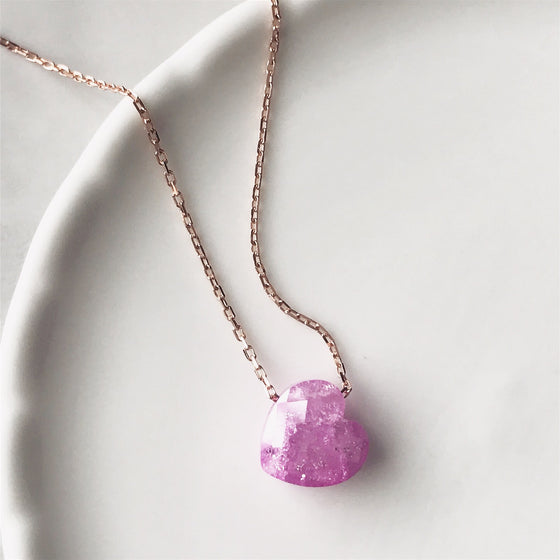 3D Heart sterling silver necklace
